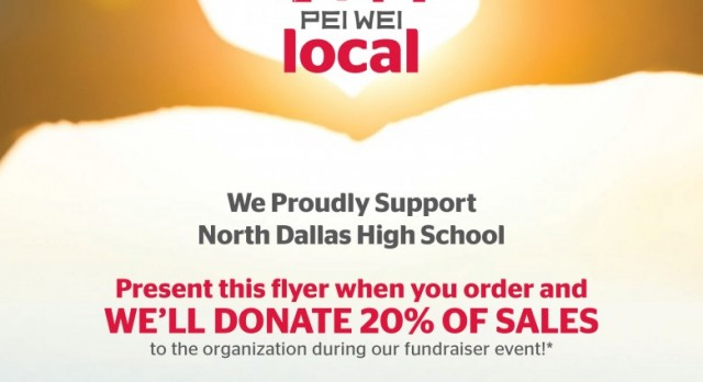 Senior Class to hold fundraiser Wednesday at Pei Wei