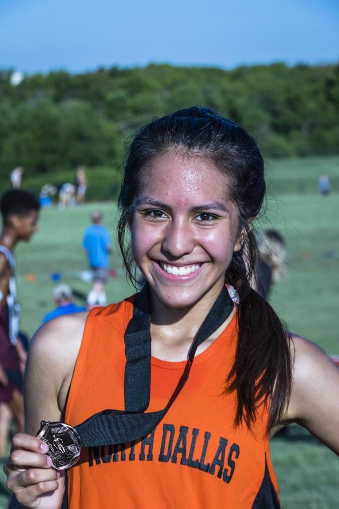 Natalie Chaparro took third place in the junior varsity division.