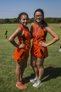 Fatima Rincon and Kathy Nguyen display their medals.