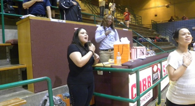North Dallas sophomore nails the national anthem