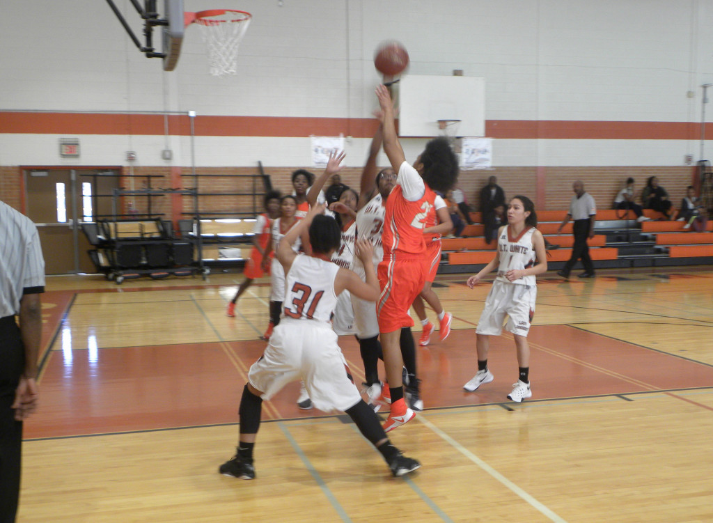 Ashley Poole drives to the basket.