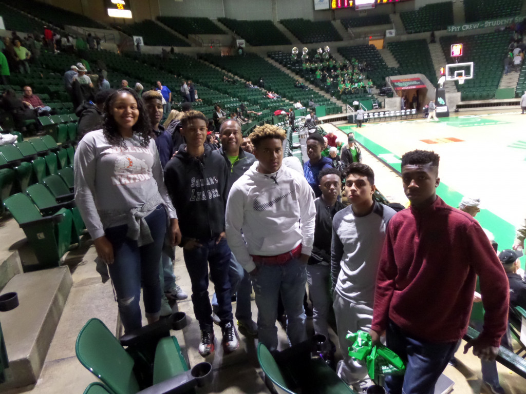 SaNiya Lampkin (NDHS 10th grade Basketball Player), Terry Smith (Nimitz HS Irving 9the grade Basketball Player), Chandler DeVeaux (NDHS 9th grade Basketball Player), Billy Johnson (UNT Executive Director, Professional Leadership Program), Cinque' Lampkin (NDHS 9th grade Basketball Player), Marcus Pierson Jr. (Hillcrest HS 9th grade Basketball Player), Dionnta Adams (NDHS 9th grade Basketball Player), Jorge Villalobos (WTHS 9th grade Basketball Player), Cedric Bryant Jr. (NDHS 9th grade Basketball Player)