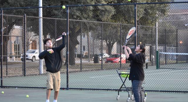 North Dallas tennis team works on their game