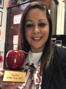 Doraido Acevedo-Ufret was named North Dallas' teacher of the year on Friday.