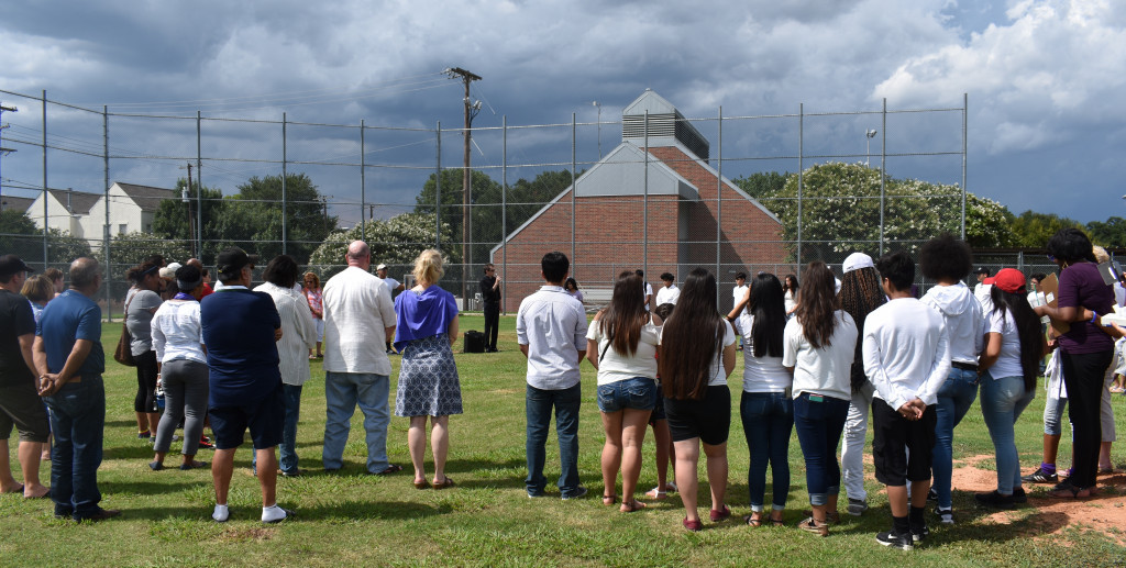 About 100 people gathered to pay respects to Ms. Tammy Kokotkiewicz on Saturday at the North Dallas baseball field.