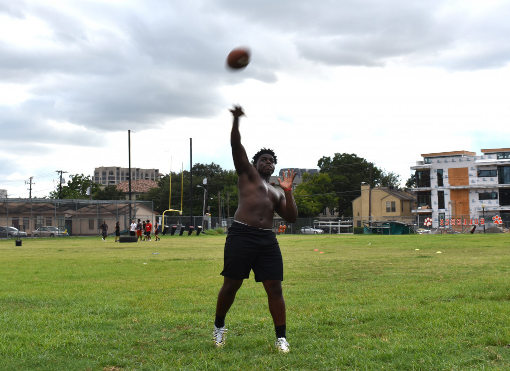 Quarterback KaVonn Price gets ready for his senior season at North Dallas High.
