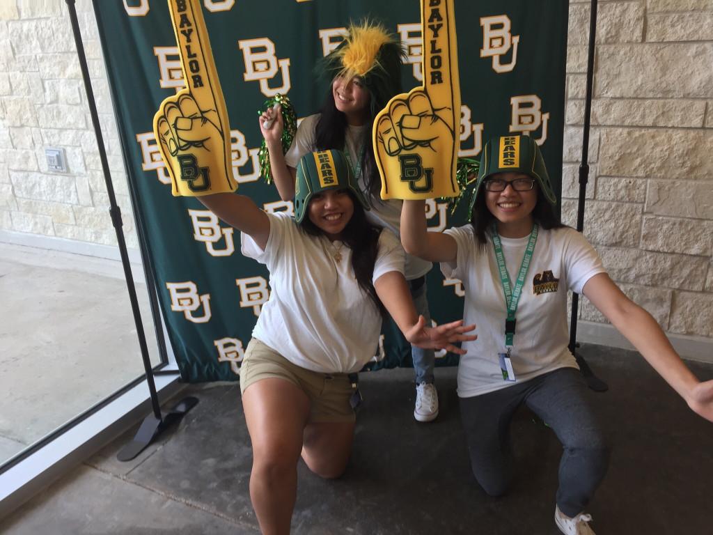 Top: Jerah Sanchez, Bottom: Brenda Cruz, Kathy Nguyen. Attending the end of camp awards party.