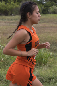 Fatima Rincon had the fastest time on the girls team Saturday.