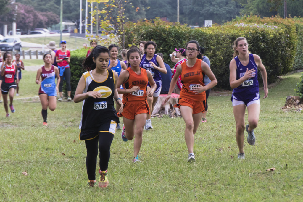Fatima Rincon and Kathy Nguyen running at an earlier meet.