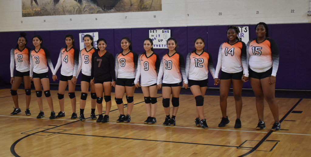The North Dallas girls volleyball team.