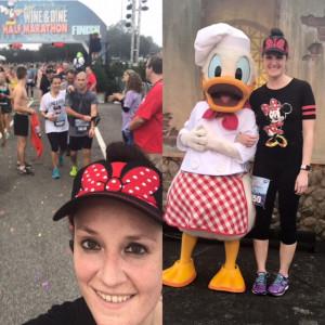 North Dallas Principal Katherine Eska provided some selfies from her half marathon run in Florida.