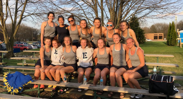 East Grand Rapids High School Girls Varsity Tennis finishes 1st place