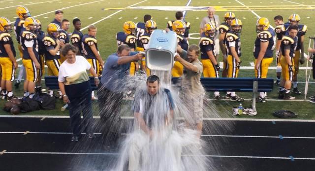Principal Conley Takes the ALS Ice Bucket Challenge