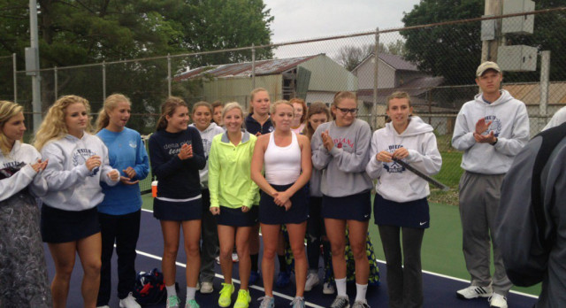 Delta Sweeps Marion for Tennis Regional Title