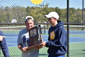 Jason and Caleb with trophy