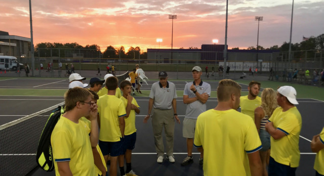 Tennis Team Edges Lapel 3-2 in Regional Thriller