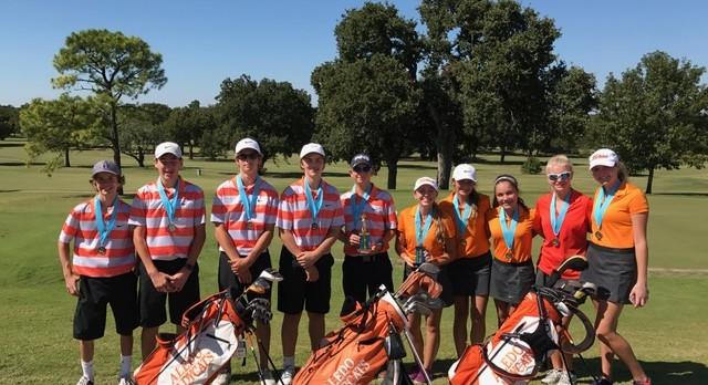 JV Boys and Girls Golf Place 2nd at Arlington Seguin (10.12.16)