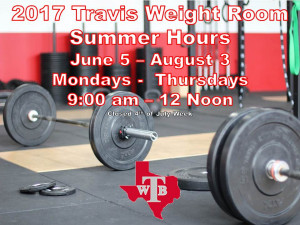 Summer Weight Room Hours