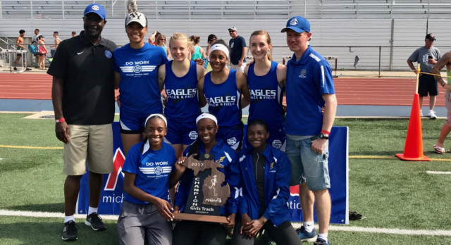 Girls Track & Field 2017 MHSAA Division IV State Champions