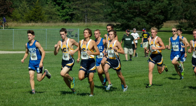 Adams Leads Eagle Runners at Opening Meet