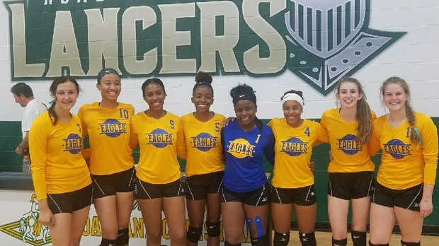 Volleyball Wins the Oakland Christian Tournament