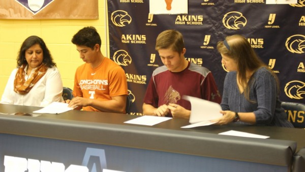 Austin McNicholas and Adam Ivey sign letters of intent to play college baseball.