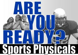 Reminder – Get Your Sports Physical.  Fall Sports Are Just Around The Corner