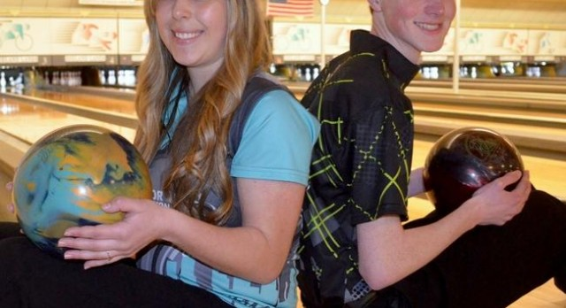 Tyler DeJonge and Christina Scheuerman – Holland Sentinel Bowlers of the Year