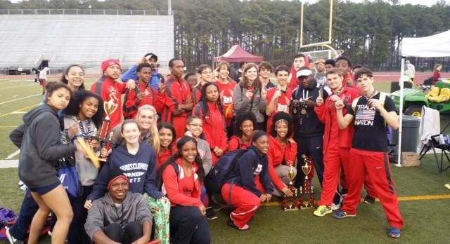 BJHS Boys Varsity Track finish 1st place, Girls 2nd