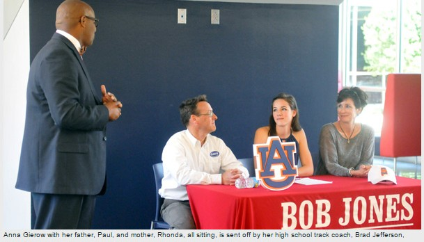 Multi-sport Bob Jones star signs Auburn track scholarship
