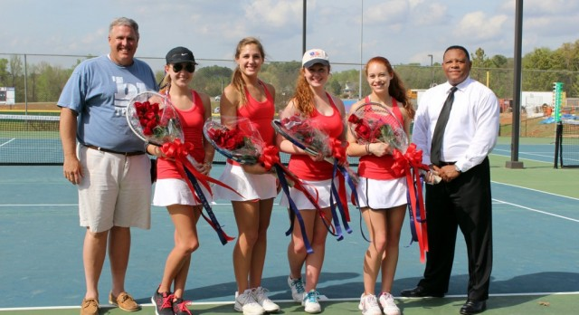 Bob Jones High School Girls Varsity Tennis falls to Gadsden City High School 3-6