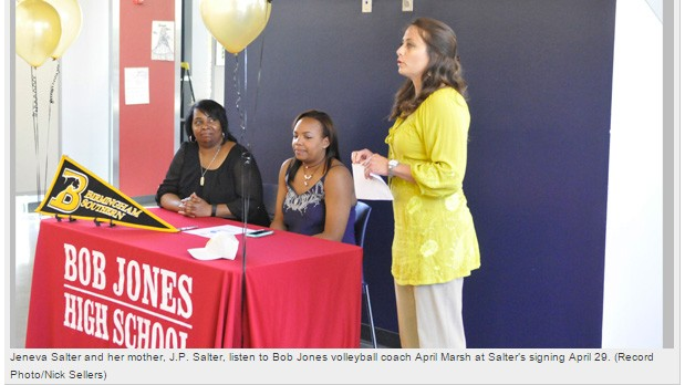 Second BJ volleyball player signs with Birmingham-Southern