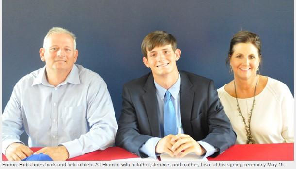 AJ Harmon signs track scholarship with UAH