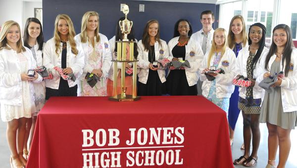 Bob Jones JV cheerleaders get championship rings