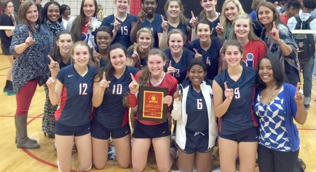 BJHS Girls Volleyball beat Hazel Green 3-2 to win Area