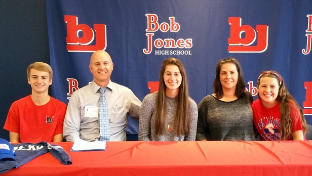 Isabelle Barnes signs a volleyball scholarship with UAH