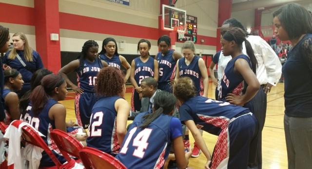 Bob Jones High School Girls Varsity Basketball falls to Hazel Green High School 38-42
