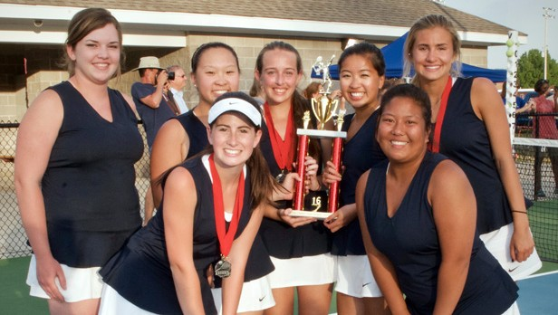 BJHS Girls Tennis Team qualifies for the State Class 7A tennis tournament
