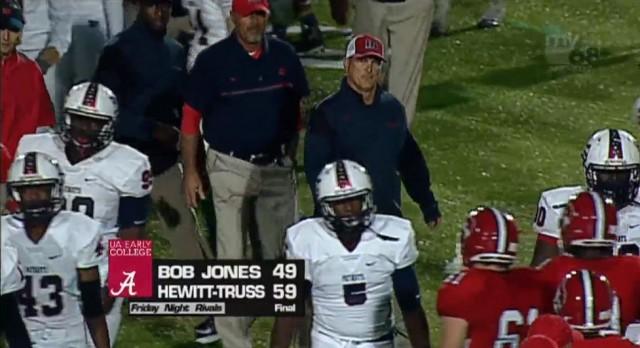 Bob Jones High School Varsity Football falls to Hewitt-Trussville High School 59-49