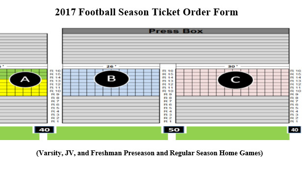 2017 BJHS Football Season Ticket Order Form