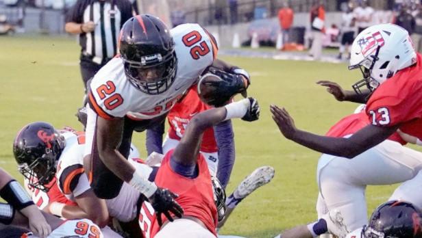 Auburn commit Asa Martin runs Black Bears past Patriots 41-14