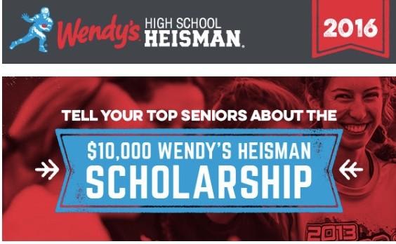 Wendy's High School Heisman for Senior Athletes