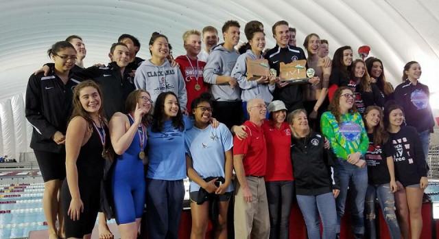 Clackamas Boy's and Girl's Swim Teams Win Mt. Hood Championships