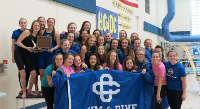 Grand Rapids Catholic Central Girls Swim and Dive Team Makes History As First Time State Champions In Division III