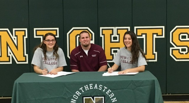Sasha Middleton and Tatum Jordan Sign to Play College Volleyball at Hiwasee College in Tennessee