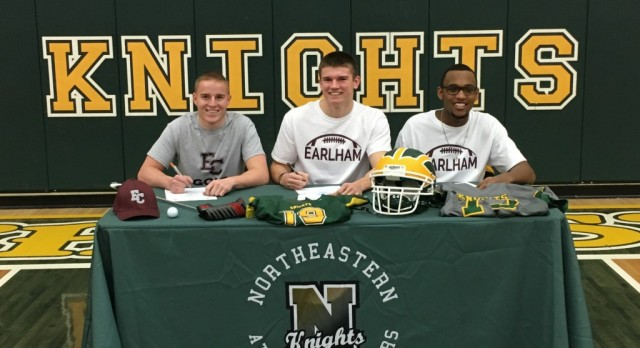 Three Knights Sign With Earlham