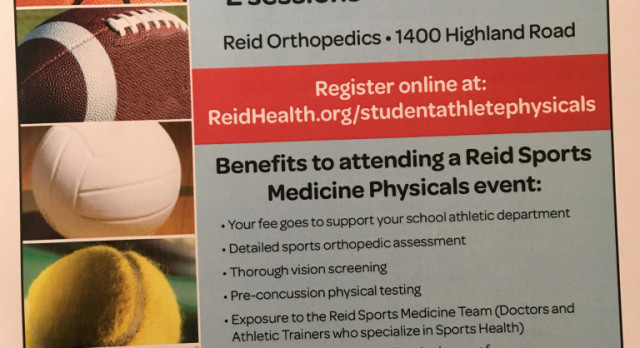 Last Reid physical night, Thursday, June 27, 2017 at 5:30 and 7 pm