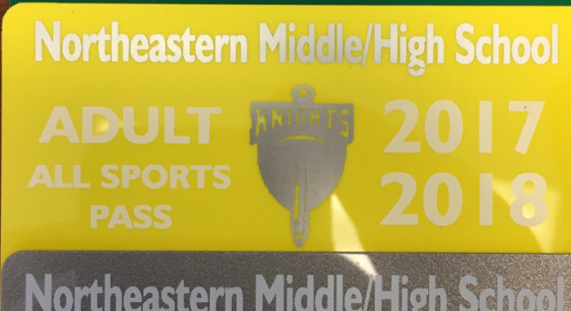 2017-2018 Northeastern Middle/High School Sport Pass Information