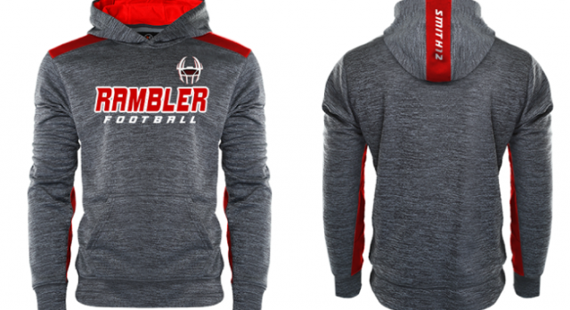 ORDER DEADLINE EXTENDED:Rambler Football Sweatshirts and Backpacks for sale!