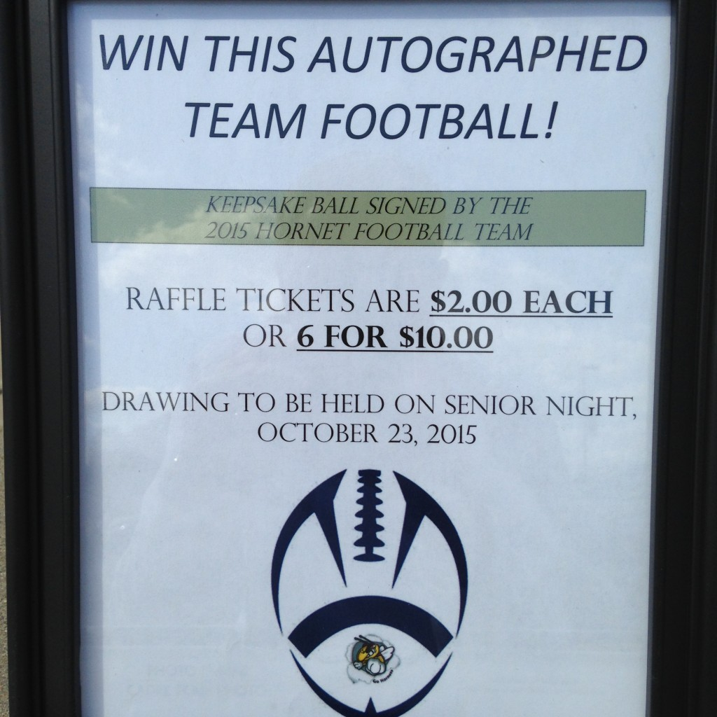 football raffle this is the home of lhathletics com fb raffle sign 6311 6309